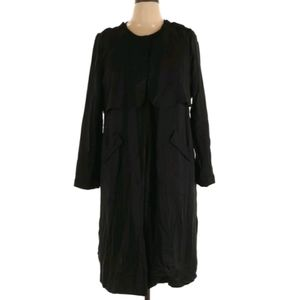 Sejour 14w black trenchcoat